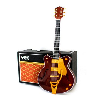 """We've got our minds set on this mini George Harrison """"Country Gentleman"""" guitar."""