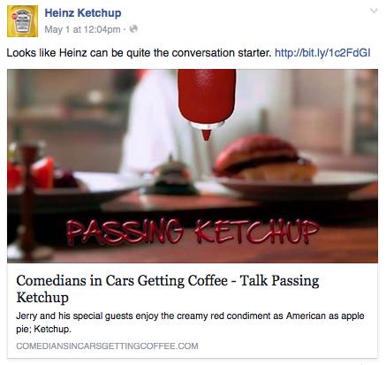 Passing Ketchup