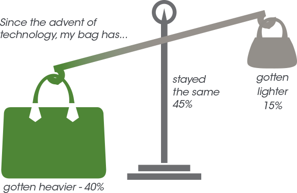What's in her Bag. Scale Inforgraphic.
