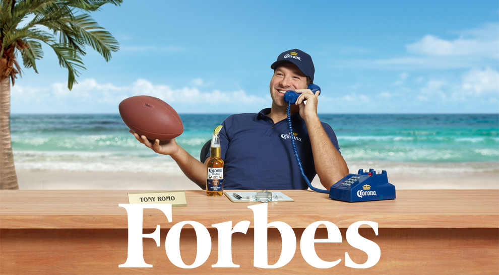 Tony Romo joining Corona Extra to operate the Corona Hotline this football season.